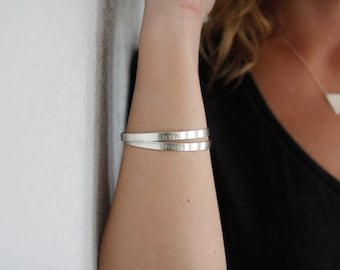 Personalized Sterling Silver Cuff, silver cuffs, personalized bracelet, monogram cuff, graduation gift, mothers day bracelet, best friend