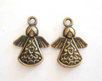 Charms, Angel Charms, Copper Angel Charms, Findings,Charms for Jewelry, Charms for Bracelets, Charms for Earrings