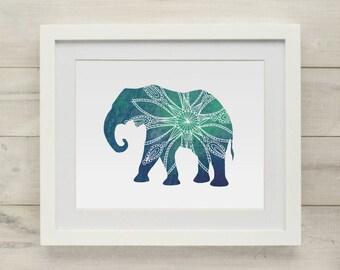 Elephant Art Print, Elephant Artwork, Elephant Print, Elephant Nursery, Watercolor Print, Nursery Art, Kids Wall Art, Wall Decor, Wall Art,