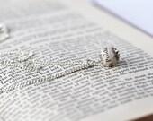Poldark book page bead necklace