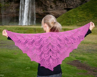 Icelandic Lopi Shawl - Light coral pink