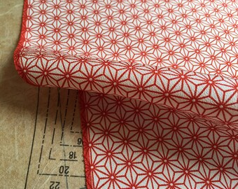Vintage Silk Kimono Fabric Japanese Asanoha (length 1m or 1.09 yards)