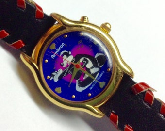 Pepe le pew watch vintage Armitron musical watch cartoon character watch