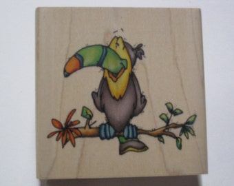 Whipper Snapper - Wood Mounted Rubber Stamp -  Toucan