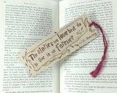 Harry Potter Lesezeichen aus Holz - Hand Brandmalerei - Spaß Buch Zitat