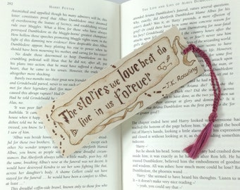 Harry Potter Wooden Bookmark - Hand Pyrography - Fun Book Quote