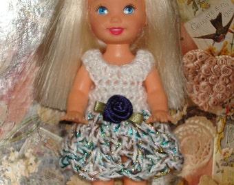 Handmade Crochet Dress For Kelly Barbie number  1040