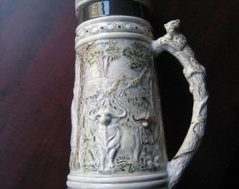 Vintage Ceramic Decorative Stein Hand Made 1986