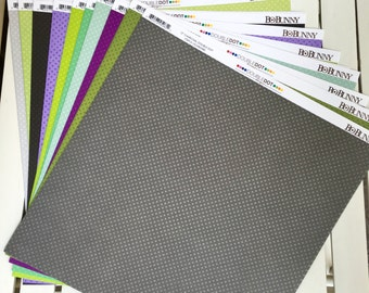 BoBunny double dot 12X12 scrapbook paper, by the sheet, designed to coordinate with BoBunny collections, for scrapbooking, paper crafting
