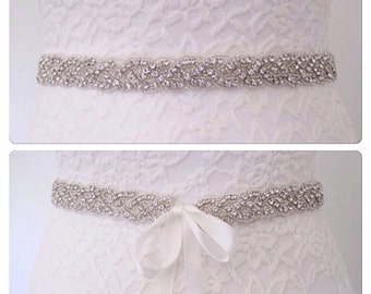 Wedding sash belt,wedding dress sash,crystal wedding belt,