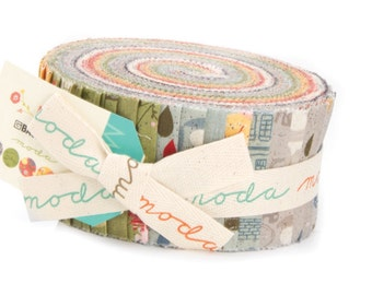 Mon Ami cotton jelly roll by Basic Grey for Moda fabric