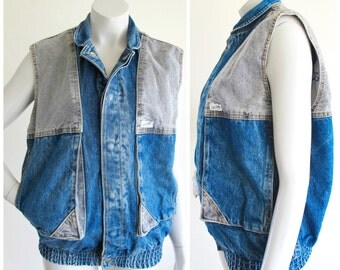 90s GUESS Denim Bomber Vest