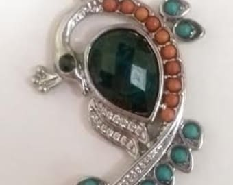 Green #Coral #Metal #Silver #Recycled #Emerald #Sterling #Silver #Pendant #Necklace