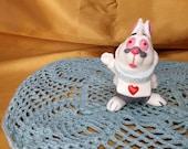 Vintage Alice in Wonderland White Rabbit Walt Disney Figure Figurine Japan Queen of Hearts