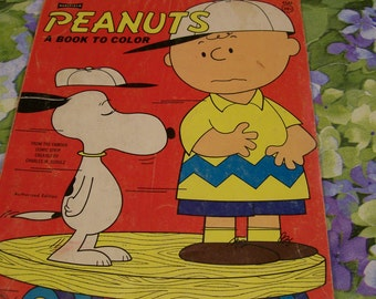 Vintage Peanuts Coloring Book Circa 1965 Saalfield Authorized Edition