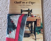 Make a Quilt in a Day - Eleanor Burns - Log Cabin Pattern