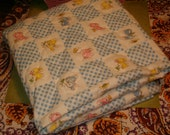 "Quilted Nursery Fabric, Ready to Back, Ready to Sew, Nice Size 40""W x 41""L, Nursery"