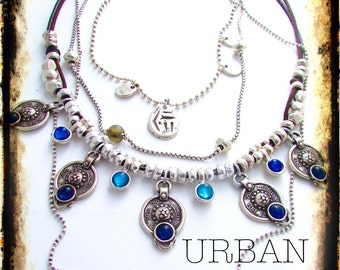 Luxury Long Multi Layer One of a Kind Gypset Boho Necklace URBAN NOMAD