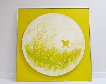 Vintage Yellow Pop-out Painting