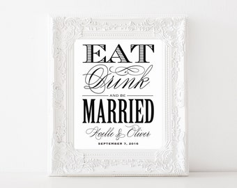 Printable - Be Married Reception Print