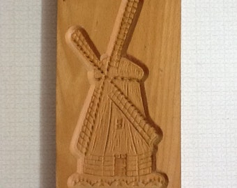 Vintage Dutch Windmill biscuit mold made in Holland