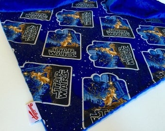Vignette, Star Wars, Blue, Star Wars, Dot Minky, Blanket