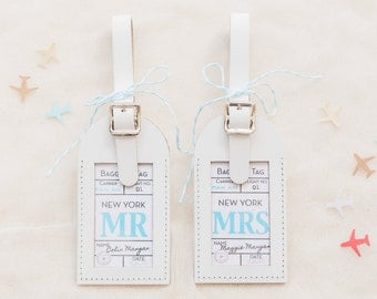 Wedding Favors - Mr & Mrs Escort Cards