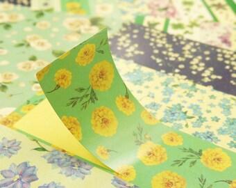Paper Deco Sticker Set - Masking Sticker - romantic flower - 4 Sheets