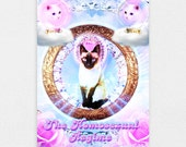 "The Homosexual Regime 8"" x 10"" Space Cat Print - LGBT Rainbow Cats Kitten Pastel Kawaii Gay Pride Space Cat Laser Cat"