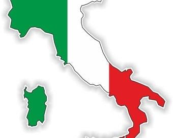 Italy Map Flag Silhouette Sticker for Laptop Book Fridge Guitar Motorcycle Helmet ToolBox Door PC Boat