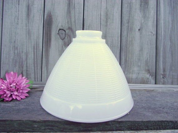 Milk Glass Art Deco Lamp Shade Diffuser Reflector