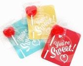 Valentine's Cards Valentine's Favors Valentine Party Favors Valentines Candy Favors Valentine's Day Cards Valentine's Sucker Favor Cards