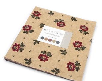 PRAIRIE CACTUS Kansas Troubles Favorites Moda CHRISTMAS Layer Cake fabric 42 10 inch squares 9051Lc
