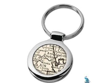 Map Keychain Selma Alabama Key Ring Fob