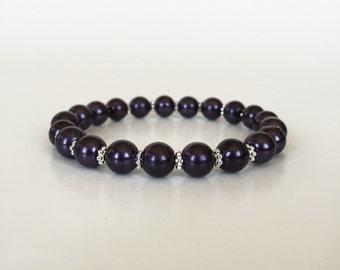 Eggplant Pearl Bracelet