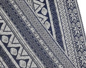 Thai Woven Fabric Tribal Fabric Native Fabric by the yard Ethnic fabric Aztec fabric Craft Supplies Woven Textile 1/2 yard Blue (WF137)