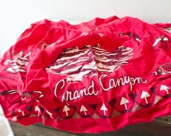 Vintage Red Grand Canyon Apron - Red Grand Canyon Aztec Boho Apron Vintage Apron Kitchen Gift For Her Bohemian Apron