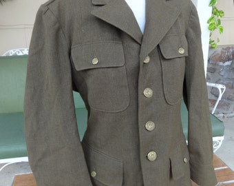 vintage military coat WWII army 1940's jacket militaria clothing uniform
