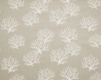 """Isadella Coastal Gray Curtain Panels 24"""" or 50"""" x 63, 84, 90, 96 or 108L in Premier Prints Coral Grey Drapes"""