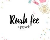 RUSH ORDER rush order immediate shipping, rush fee upgrade