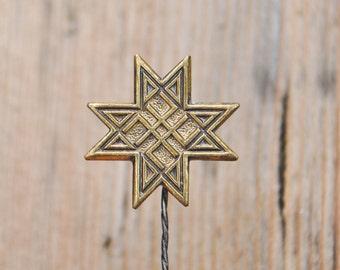 """Vintage Latvian patriotic brass badge,pin.""""Auseklis"""""""