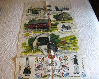 Pennsylvania Dutch linen tea towel by Kay Dee