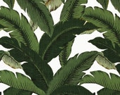 Four  20 x 20 Custom  Designer Decorative Pillow Covers for Indoor/Outdoor - Swaying Palm Leaves - Green/