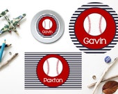 Baseball Plate/Bowl/Placemat . Personalized Plate/Bowl/Placemat . Sports Plate/Bowl/Placemat . Boys Melamine Plate . Boys Plate/Placemat