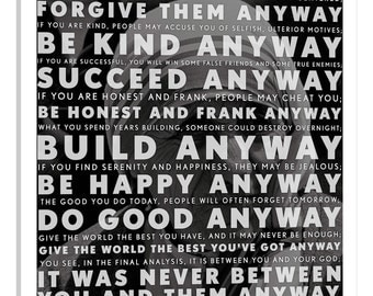iCanvas Mother Teresa Quote Gallery Wrapped Canvas by iCanvas