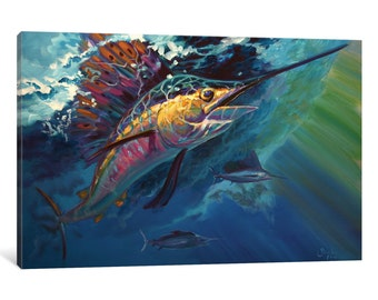 iCanvas Full Sail Gallery Wrapped Canvas Art Print by Mike Savlen