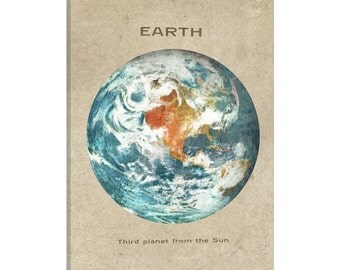 iCanvas Earth Portrait Gallery Wrapped Canvas Art Print by Terry Fan