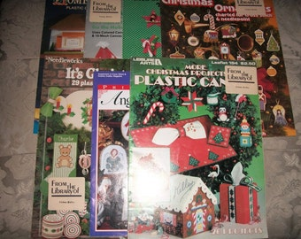 Plastic Canvas Christmas Pattern Magazines From 80's