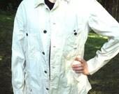 Vintage Lee Work Wear Jacket, Cream/Off White Colored, 42 Regular