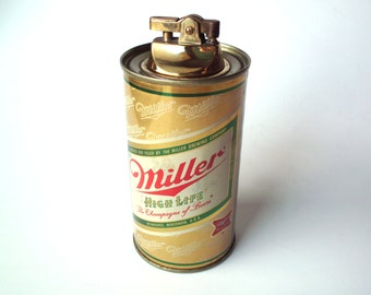 Vintage Miller Beer Can Lighter, Smoking Accessories, Tobacco